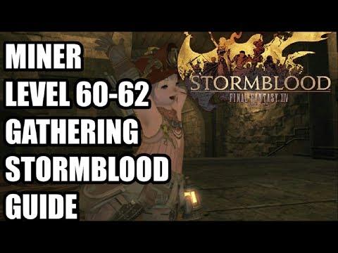 FFXIV Stormblood - Levelling Miner Gathering Guide 60-62 - Gyr Abania - The Fringes