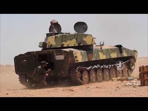 Syria War 2017 Syrian Army During Heavy Clashes in the Desert