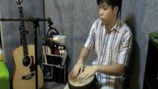 Djembe 1.08 - Intermediate rhythm 2 (alt hand accent)(updated Jan 2012* Find me on Facebook! Search