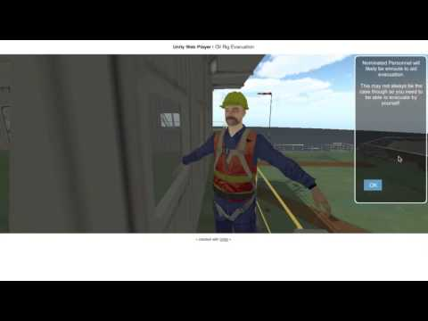 Offshore Rig Fire Evacuation Simulation - Online Demo HD