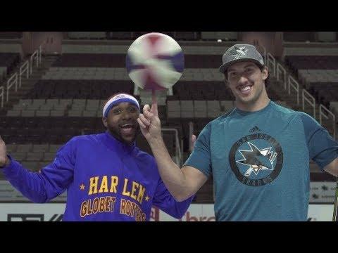 Zamboni Shot with San Jose Sharks | Harlem Globetrotters