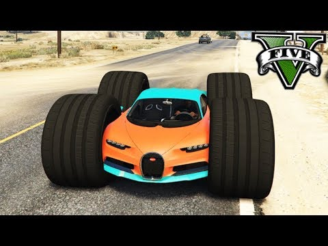 GTA V: NOVO CARRO com RODA DE MONSTER 100x MAIOR!!! (MODS)
