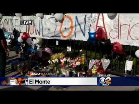 Students Gather At Memorial For El Monte High School Senior Killed In NorCal Bus Crash
