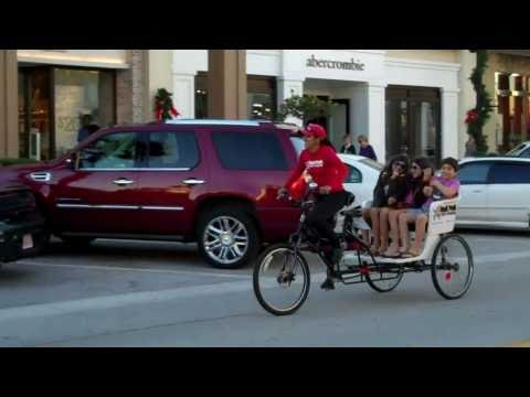 Pedicabs at St. Johns Town Center in Jacksonville, Florida