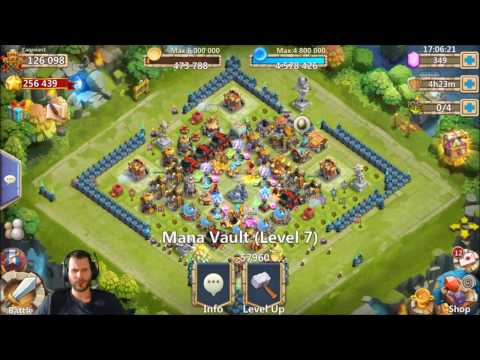Rolling 38000 For Talents + Heroes Androids Sick BazaaR Events Castle Clash