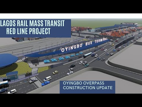 Construction Work On Lagos Light Rail Project (Red Line) Oyingbo Overpass ||Lagos Rail Mass Transit