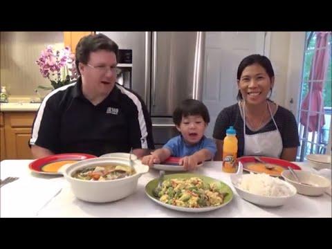 Eating Filipino Food | John sings an original song | Filipino Mukbang