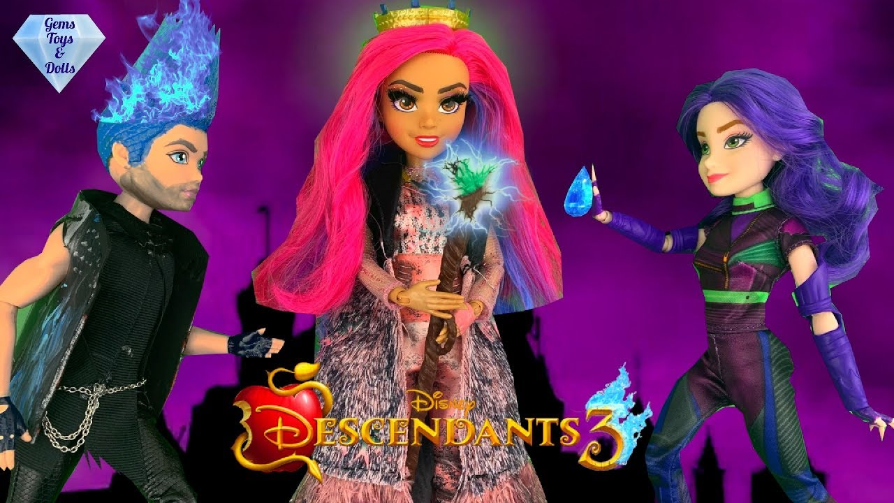 Audrey Takes Ben! Spells Hades Uma Fights Mal Disney Descendants 3 Doll  Story Episode 3