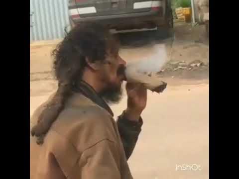Smoking king Ganja man