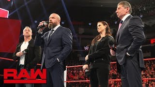 The McMahons To Control Raw And SmackDown LIVE As A United Front: Raw, Dec. 17, 2018