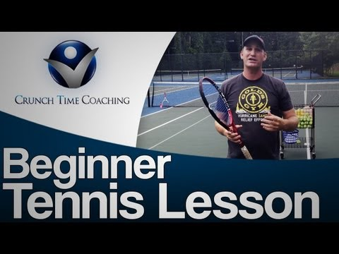 Beginner Tennis Lessons: Forehand and Backhands