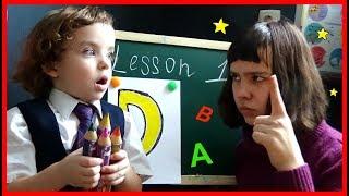 Makar Go To School Learn Colors  with Alphabet