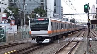 JR中央線E233系T18編成荻窪駅到着