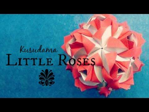 little roses origami ball kusudama maria sinayskaya youtube rh youtube com Easy Origami Kusudama Flower Origami Clover Kusudama Diagrams