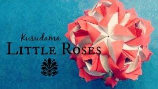 Little Roses Origami Ball / Kusudama (Maria Sinayskaya)