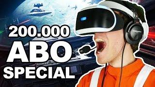 200.000 ABONNENTEN SPECIAL 🐲 STAR WARS BATTLEFRONT ROGUE  ONE X-WING VR MISSION [Facecam/Deutsch]