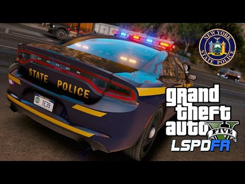 GTA 5 LSPDFR #33 - New York State Police NYSP | LSPDFR Police Mod State Patrol in a 2017 Charger ELS