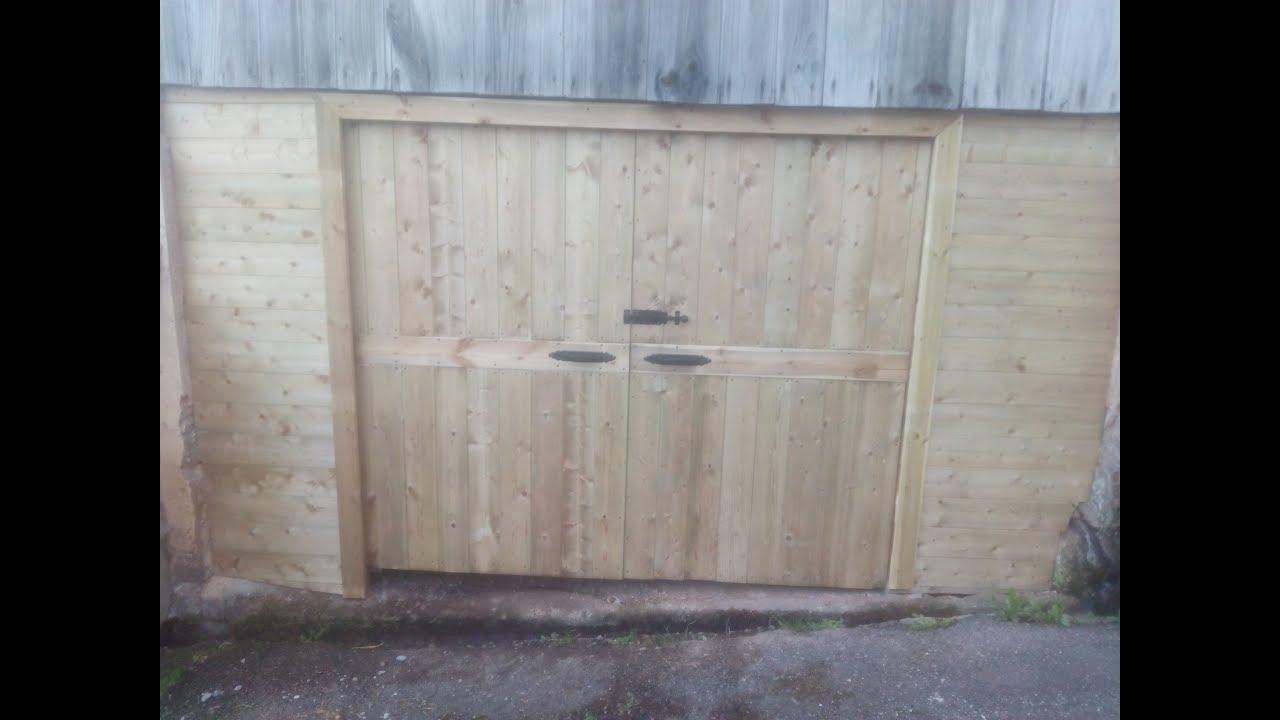 Como hacer un port n de garaje youtube for Como hacer un porton de madera economico