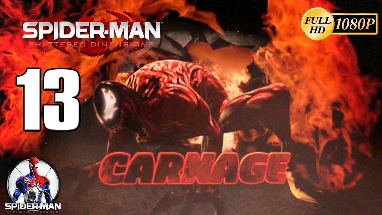 spiderman shattered dimensions carnage vs spiderman