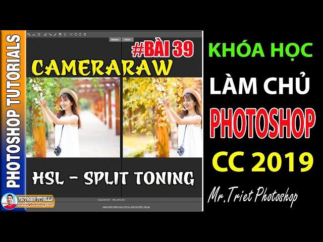 Bài 39: Camera Raw: Cách Sử Dụng HSL, Split Toning 🔴 Làm Chủ Photoshop CC 2019