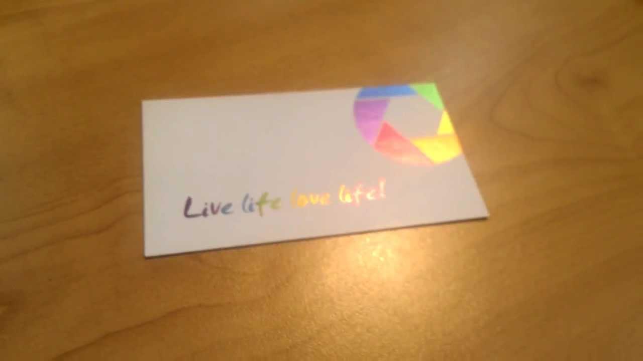 Akuafoil business card printing live life love life youtube akuafoil business card printing live life love life colourmoves