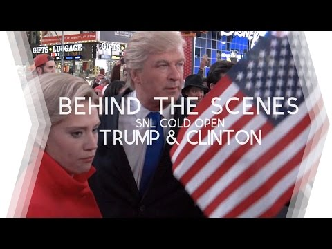 Behind the Scenes of 'Hillary Clinton/Donald Trump Final Cold Open - SNL'  - Go Vote!