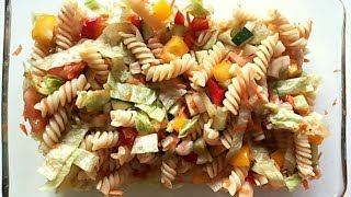 Easy And Quick Veg Pasta Salad - Low Fat, Healthy Snacks Recipe