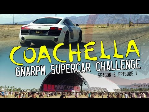 How To Have The Most Fun At Coachella - Supercar Road Trip Challenge