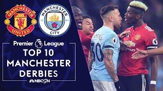 Top 10 Manchester Derbies | Premier League | NBC Sports
