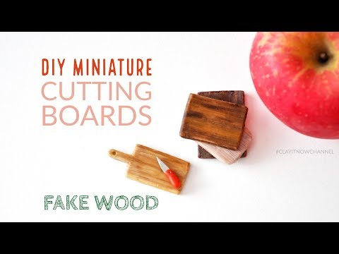 DIY Miniature Cutting Boards (Fake Wood) with Homemade Clay