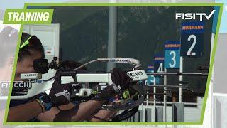 Biathlon: Gli azzurri al lavoro ad Anterselva