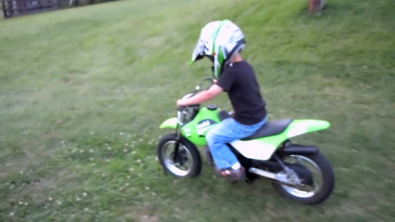 Matt rides his 'new to him' KDX 50 for the second time... - YouTube