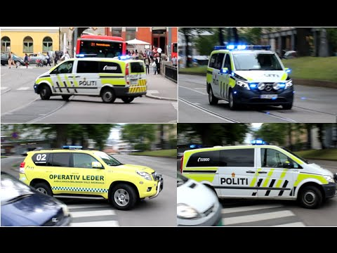 [Oslo] 3x Politi og Operativ Leder till en jobb / 3x Police and Ambulance Chief to a call