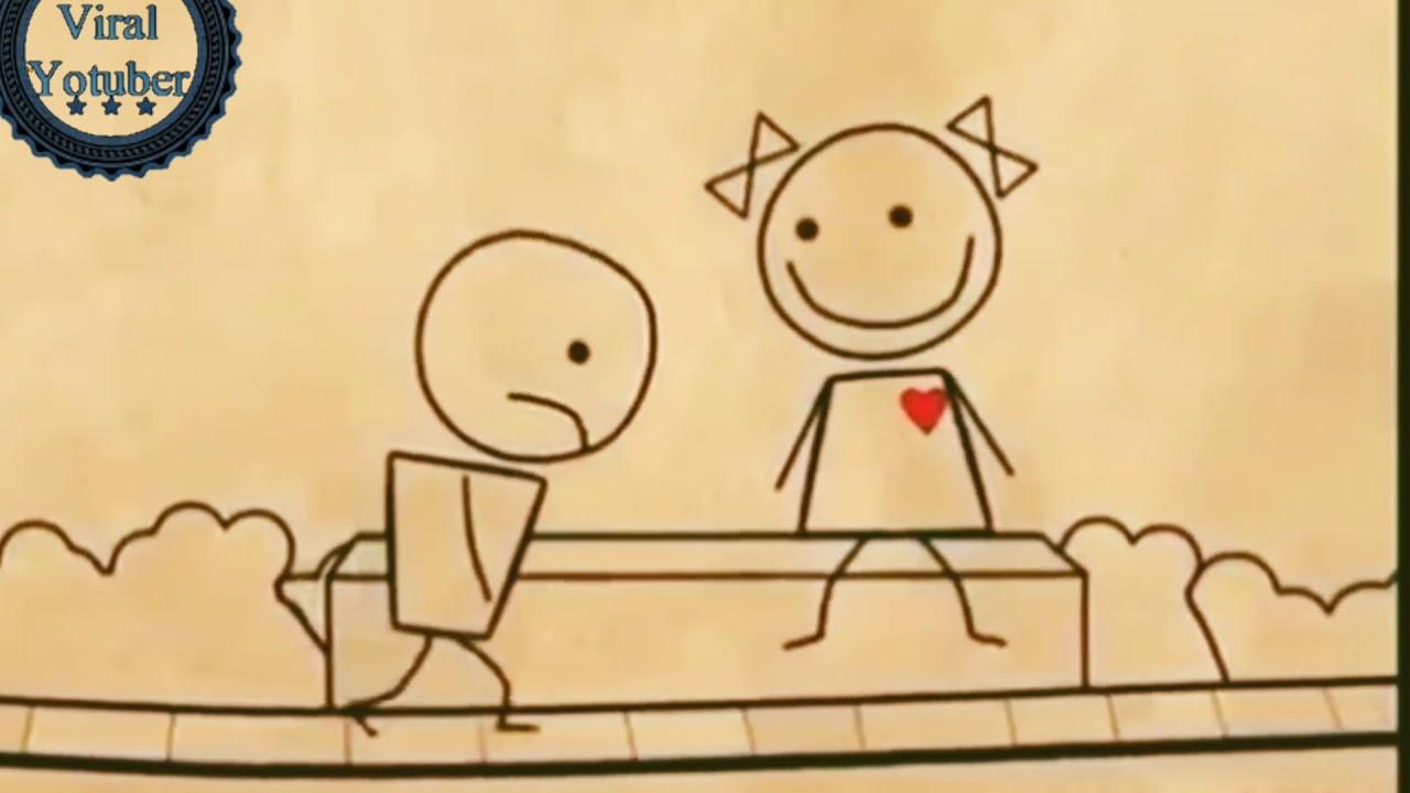 Download Whatsapp status video | Animated cute love story | Romantic cartoon for Whatsapp Status
