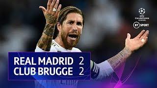 Real Madrid vs Club Brugge (2-2)   UEFA Champions League Highlights