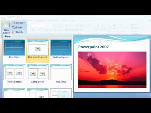 How to create an attractive presentation in PowerPoint 2007?  (www explania com)