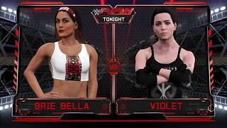 WWE 2K17 Violet VS Brie Bella 1 VS 1 Match