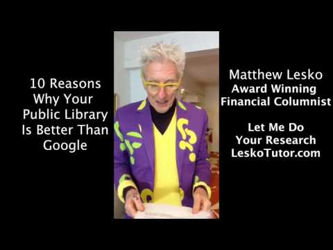 Learn Why Your Public Library Is Better Than Google