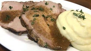 Lomo de cerdo (de cabezal) asado