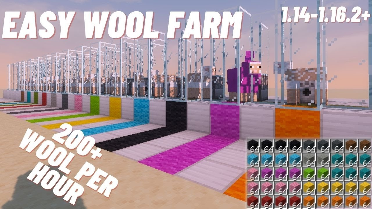 Tutorials Wool Farming Official Minecraft Wiki