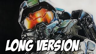How to Draw the Master Chief from Halo | Long Version