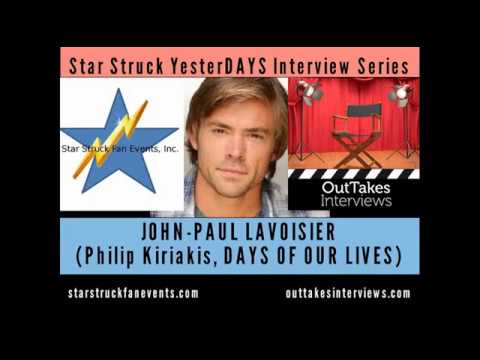 JohnPaul Lavoisier Philip, DAYS OF OUR LIVES  111017 YesterDAYS  Event