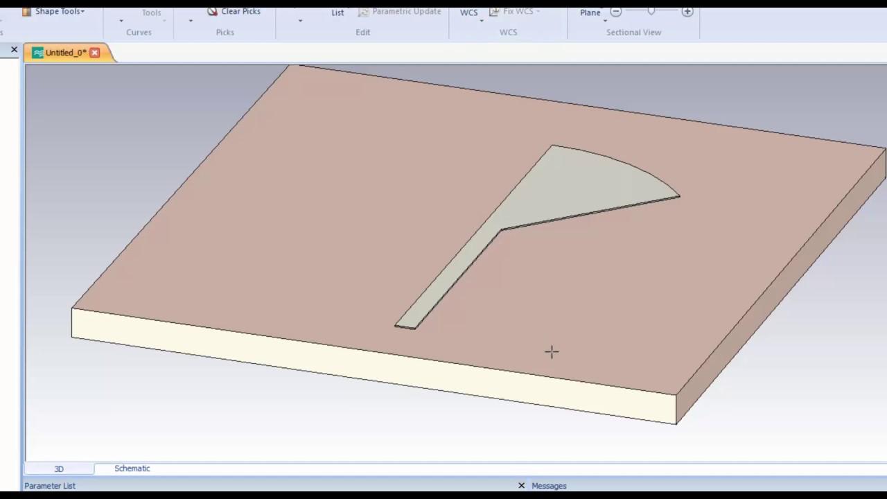 CST MWS Tutorial 13: Design of a Radial Stub (Simpler)