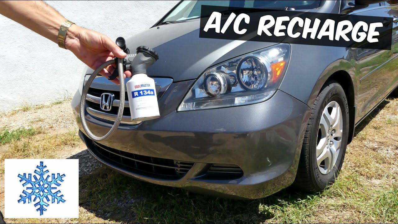 how to recharge the air conditioner ac on honda odyssey youtube a c system diagram for 2010 honda oddessey source 2007 honda odyssey wiring  [ 1280 x 720 Pixel ]