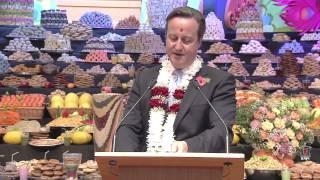 British Prime Minister David Cameron Celebrates Hindu New Year at London Mandir