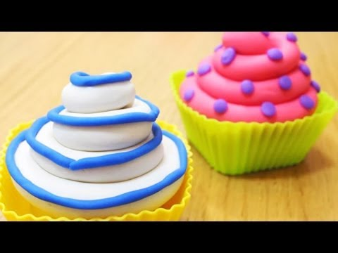 How To Make Playdough Cupcakes | Fun With Play Doh Creations