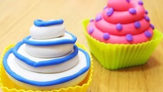 How to Make Playdough Cupcakes   Fun with Play Doh Creations
