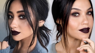 Shay Mitchell Inspired Vampy Baddie Makeup Tutorial | All Matte Winter Makeup | Eman