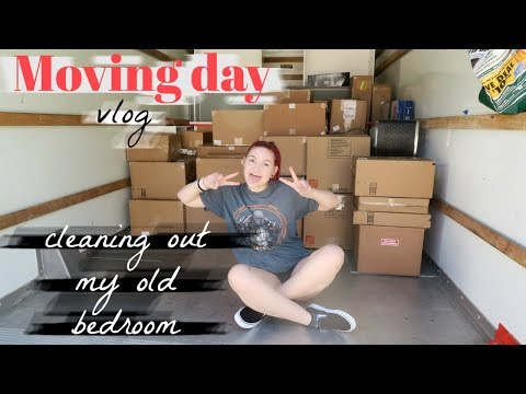 MOVING DAY VLOG | CLEANING OUT MY OLD BEDROOM | thumbnail