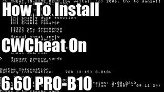 Repeat youtube video How To Install CWCheat On 6.60 PRO-B10